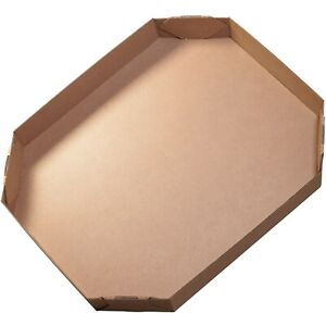 Box Partners Bulk Bin Lids Octagon 46 X 38 X 6 Kraft 5 bundle 463836octlid