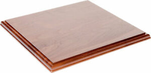 Plymor Brand Solid Walnut Square Wood Display Base 75 h X 12 w X 12 d 2 Pack