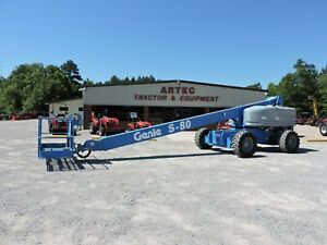 2008 Genie S 80 Boom Lift Watch Video Foam Filled Tires Only 3650 Hours