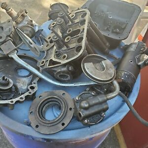 Lot Of Old Car Parts Vintage Antique