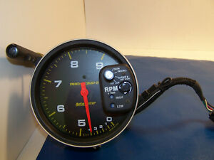 Auto Meter Tach W 2 Stage Shift Light Monster Pro comp Recall Tachometer Used