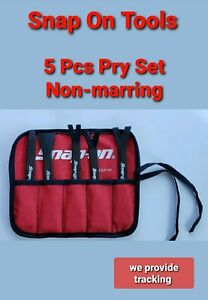 Snap On Tools 5 Pc Pry Bar Tool Set Specialty Non Marring Material New Pbn500