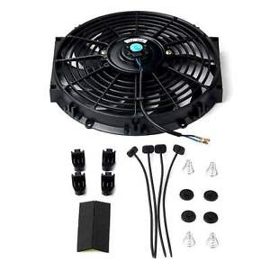 12 Inch Universal Slim Fan Push Pull Electric Radiator Cooling Mount Kit 12v