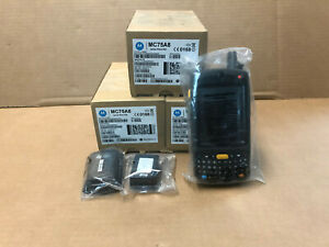 Lot Of 3 New Open Box Symbol Motorola Mc75a8 2d Barcode Scanner Pda