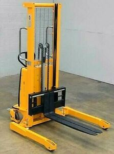 Semi electric Straddle Stacker 63 Lift 2200 Lbs With Adj Forks Model H 2651