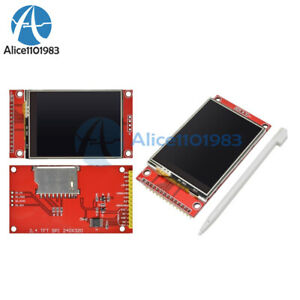 5pcs 240x320 2 4 Spi Tft Lcd Touch Panel Serial Port Module With Pcb Ili9341