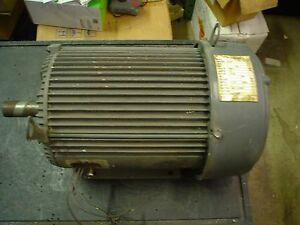 Us Electric 10hp 460vac 13amp 3ph 1750rpm 215t Motor 60 Day Warranty