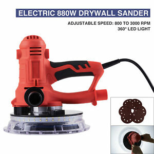 880w Commercial Drywall Sander Wall Grinding Automatic Vacuum System Handheld