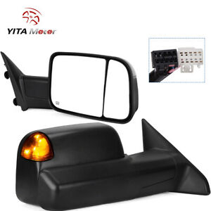 Passenger Right Tow Mirror Power Puddle Led For 09 12 Dodge Ram 1500 2500 3500