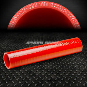 4 ply 2 Id 12 Long Turbo air Intake intercooler Piping Red Silicone Hose pipe