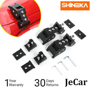 Car Hood Lock Catch Latch Buckle Cover For Jeep Wrangler Jk Jku 2007 17 Pair