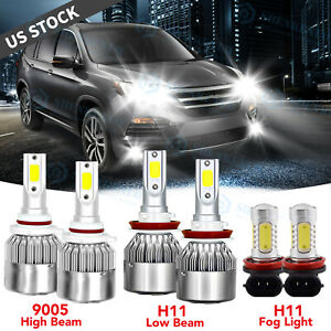 For Lexus Es350 2007 2009 combo Led Bulbs Hi low Beam Headlight