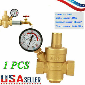 Npt 1 2 Water Pressure Regulator Lead free Brass Reducer Gauge Water Valve