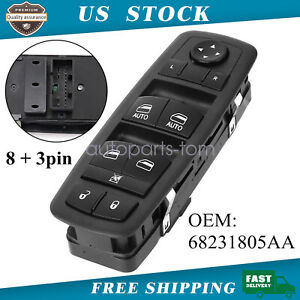 Master Power Window Control Switch Front Left For 2011 2017 Dodge Charger 4 Door