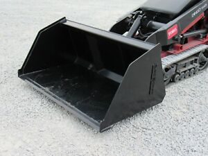 54 Mulch Snow Litter Smooth Bucket Attachment Fits Mini Skid Steer Toro Dingo