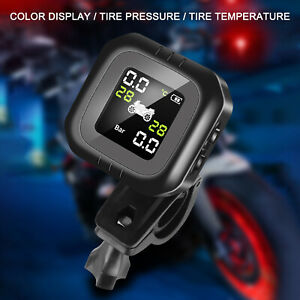 Lcd Tpms Tire Pressure Monitoring System Sensors Safe For Motorcycle Riding X3m6