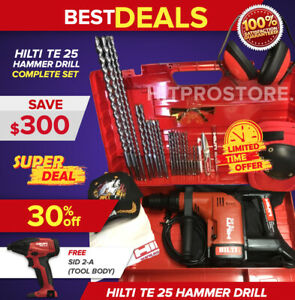 Hilti Te 25 Hammer Drill Preowned Free Sid 2 a Bits Extras Fast Ship
