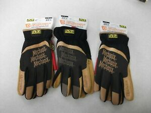 Lot Of 3 Pairs Mechanix Wear 911747 Fastfit Leather Men s Gloves Large New