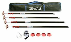 Zipwall Zippole 10 4 pack Spring loaded Poles For Dust Barriers Zp4