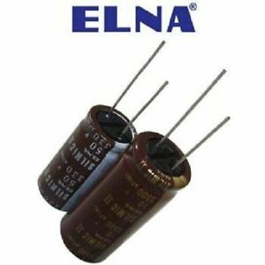 Elna Silmic Ii Audio Capacitor 100uf 100v New Silk Long Leaded 16x25 New 2pcs