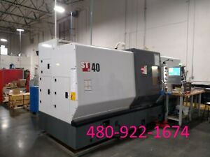2012 Haas St 40 Cnc Lathe Turning Center 15 Chuck 4 Bar Capacity Tailstock