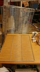 5x Stainless Steel Commercial Oven Or Refrigerator Flat Racks 23 X 22 1 4 5 16