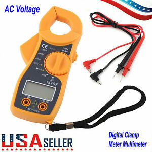 Digital Clamp Meter Tester Ac Volt Amp Multimeter Auto Ranging Current 600a Tool