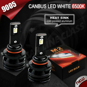 Pair Bulbs 9005 Led 12000lm White 6500k Low High Beam 2016 2020 Dodge Charger