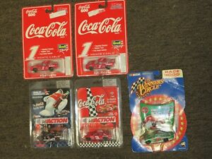 4 COCA COLA NASCAR DIECAST CARS NEW OLD STOCK 1 WINNERS CIRCLE DALE JR