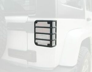 Black Rear Tail Light Guard Cover Protector For 2007 2017 Jeep Wrangler Jk Pair