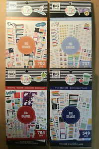 Set Of 4 New Teacher Me My Big Ideas The Happy Planner Value Pack Stickers