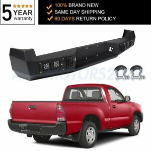 Steel Rear Bumper For 2005 2015 Toyota Tacoma Complete Assembly Bright Light