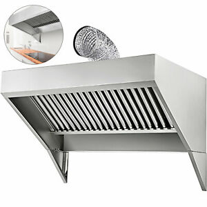 Food Truck Trailer Concession Hood 4 x30 Commercial Kitchen 430 Stainless Steel
