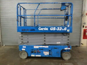 2014 Genie Gs3246 32 Electric Slab Scissor Lift 32ft Platform Lift Man Lift