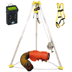 Confined Space Kit Rescue Tripod Gas Detector Blower Harness All in one