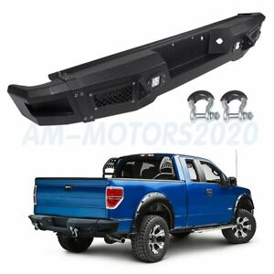 Steel Rear Bumper For 09 14 Ford F 150 Strong Complete Assembly Bright Light