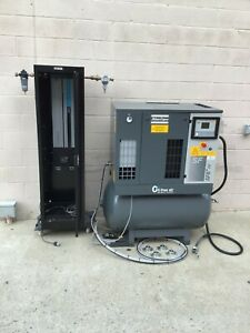 Atlas Copco Sf6 ff Air Compressor Oil free Scroll System With Dryers And Drain