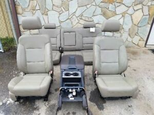 14 16 Silverado Sierra 1500 Crew Cab Leather Seats And Console Cocoa Dune Oem