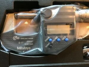Mitutoyo 293 340 30 1 Outside Digital Micrometer With Ratchet Stop w o Spc