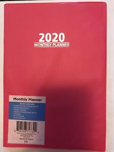 2020 Pink Monthly Planner Personal Organizer Appointment Book 7 X 9