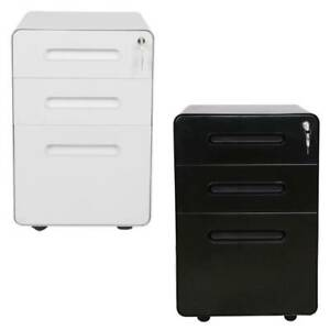 Vertical 3 drawer A4 Mobile Rolling Document File Cabinet Office Home Furniture