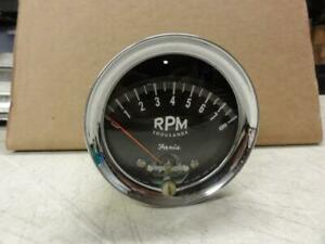 Vintage 1963 Faria 8000 Rpm Tachometer Ford Thunderbolt Cobra Gt350 Shelby