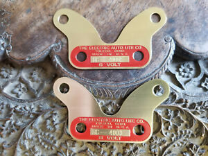 Auto lite Horn Bracket Plate Used On Boats Acid Etched Brass