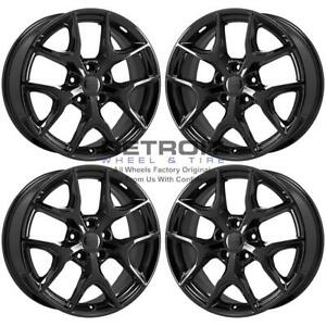 20 Jeep Grand Cherokee Gloss Black Exchange Wheels Rims Factory Oem 9214 201