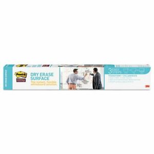 Post it Dry Erase Film With Adhesive Backing 36 X 24 White mmmdef3x2