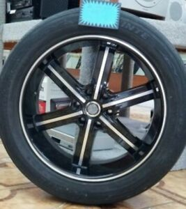 U2wheel 22 Inch Black Rims And Tires