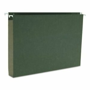 Smead 1 Capacity Box Hanging File Folders Legal Green 25 Per Box smd64339