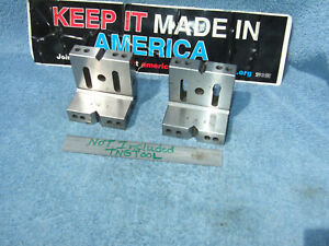 Angle Plates Matched Pair Machinist Toolmaker Clean Vintage Used Old Tools