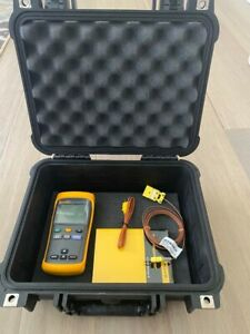 Nwot Fluke 51 Ii Thermocouple Thermometer Screen Protector W pelican 1400 Case