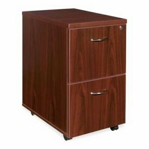 Lorell 2 drawer Mobile Pedestal File Cabinet 15 8w X 28 6h Mahagony llr69397